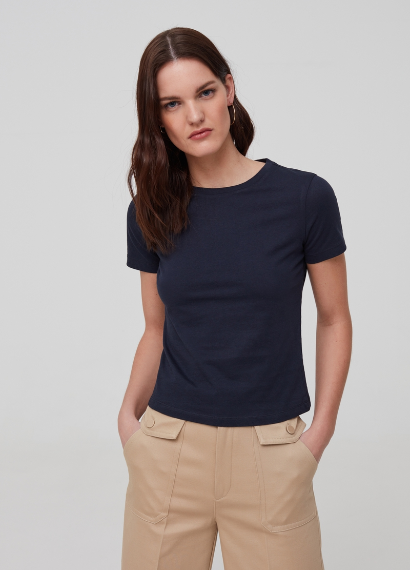 T-shirt in puro cotone bio image number null