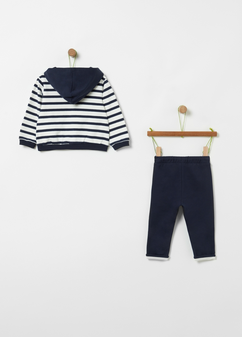 Jogging set in cotone bio stretch image number null