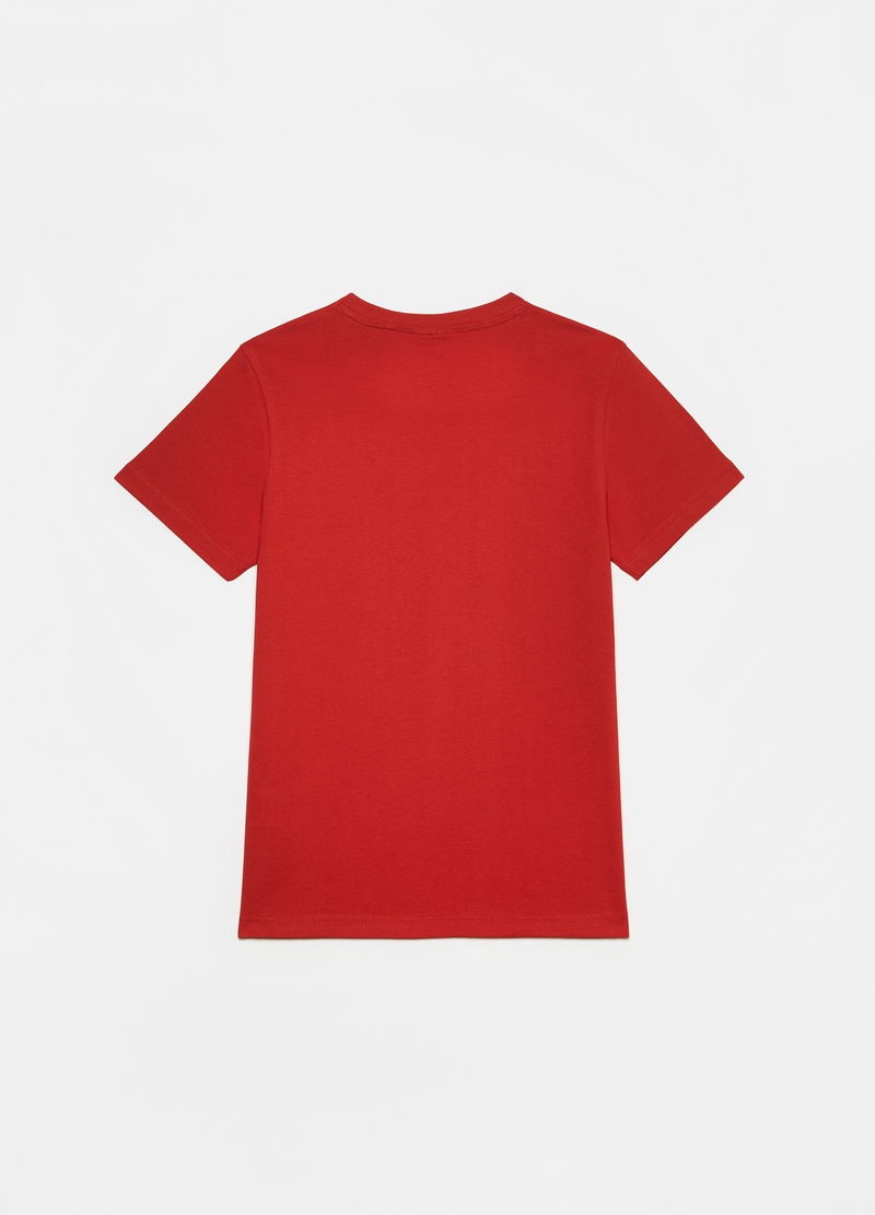 100% cotton T-shirt with crew-neck image number null
