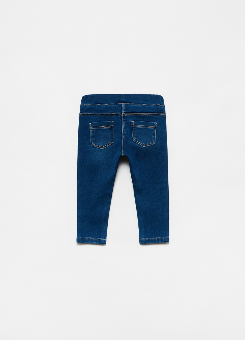 Jeggings stretch effetto delavato image number null