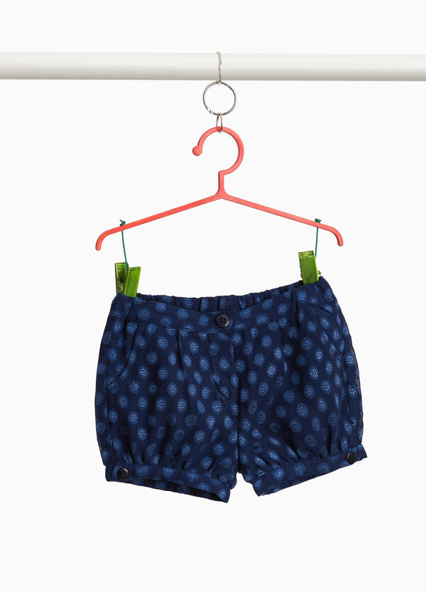 Shorts fantasia con bottoni