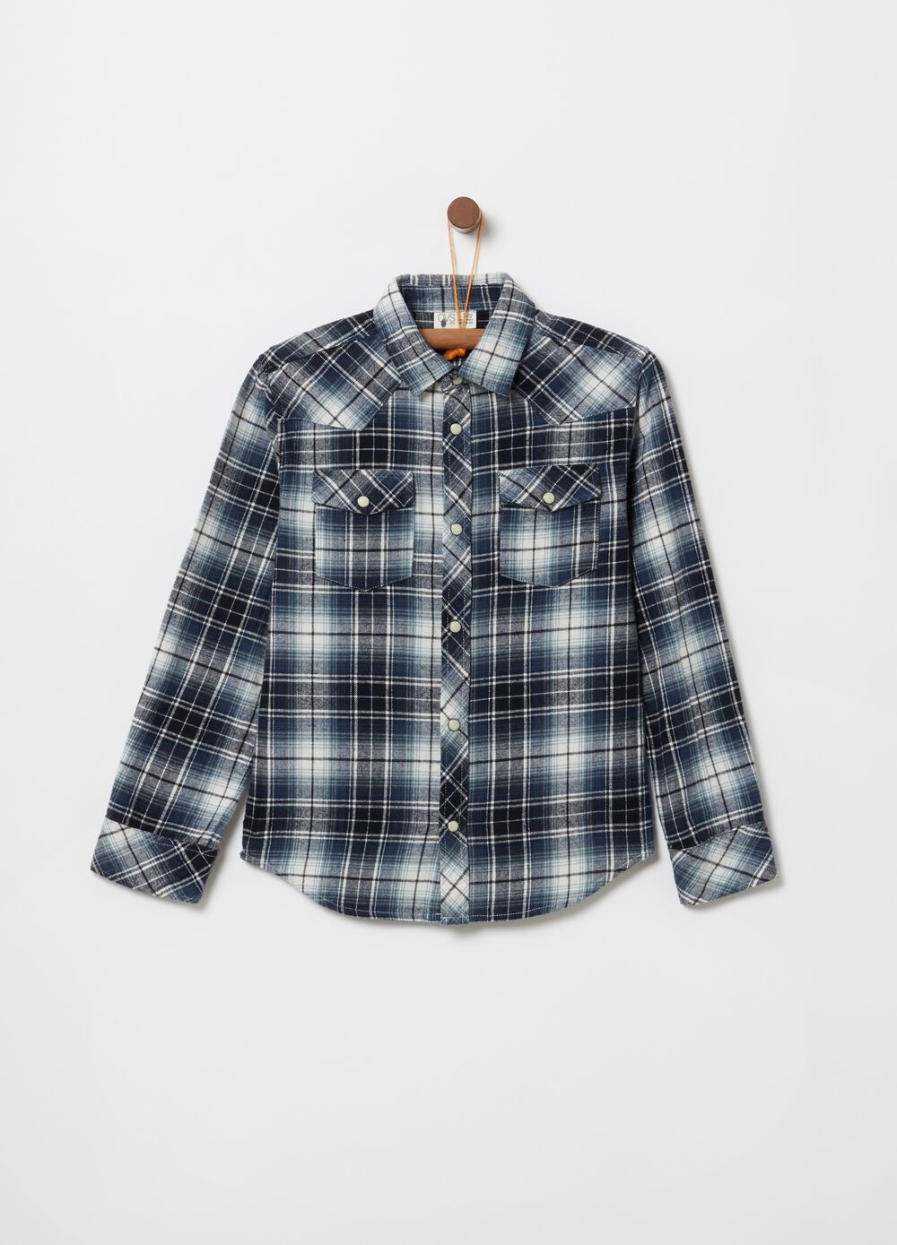 Flannel shirt with check pattern