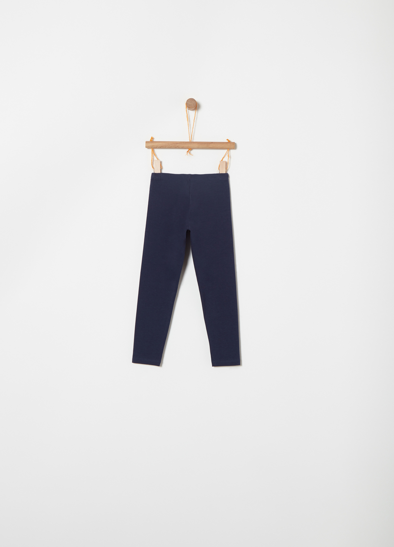 Leggings jersey stretch Biocotton image number null