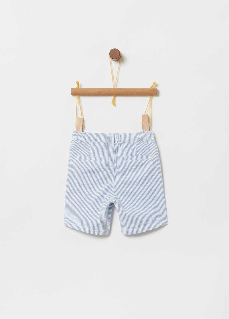 Bermuda shorts with striped welt pockets image number null