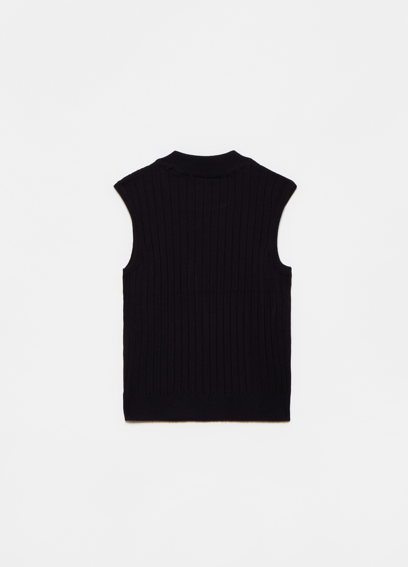 Ribbed sleeveless top image number null