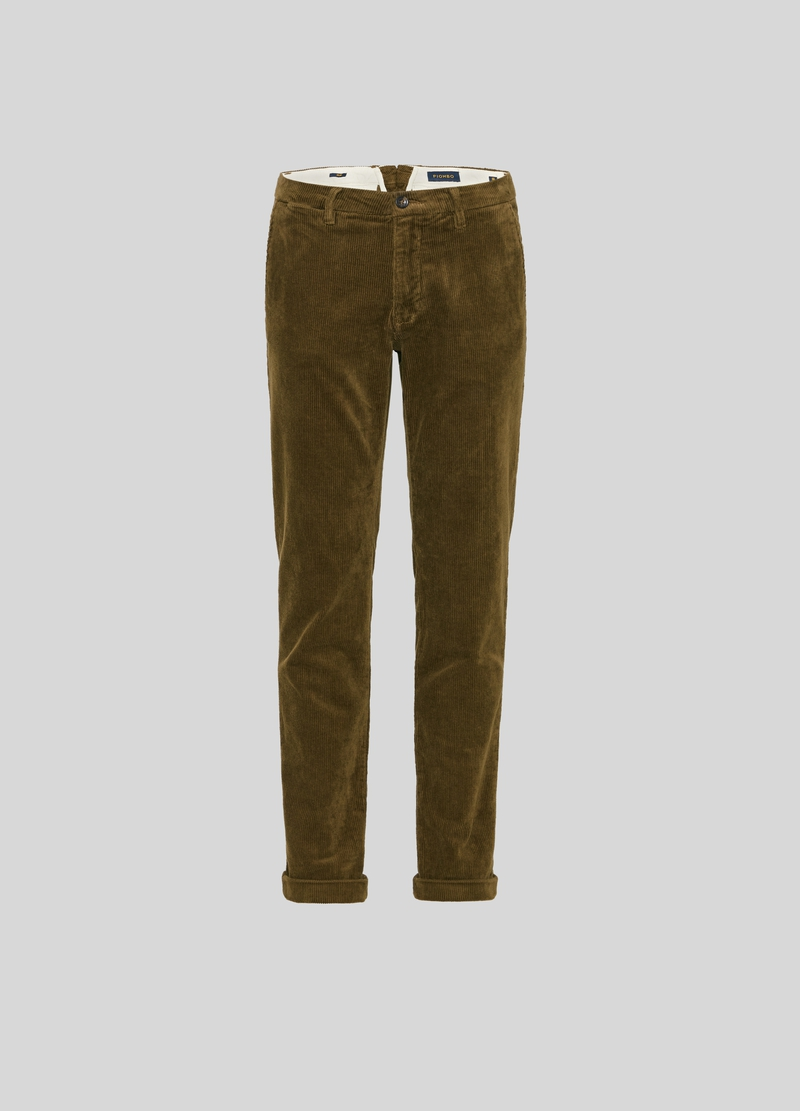 PIOMBO corduroy chino trousers image number null
