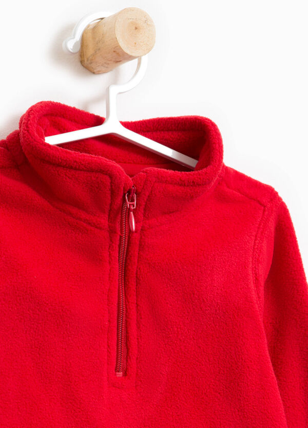 Solid colour sweatshirt with high neck   OVS