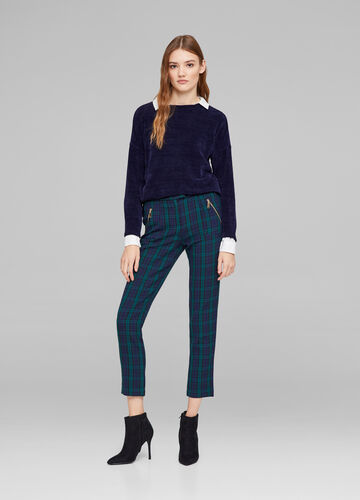 Viscose blend cigarette trousers