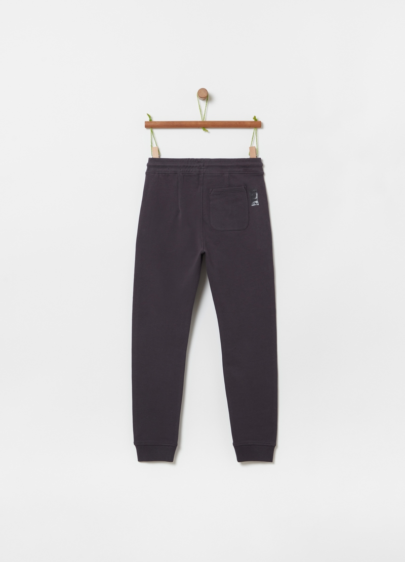 Joggers in 100% organic cotton with drawstring image number null