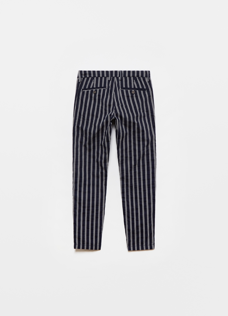 Striped chino trousers image number null