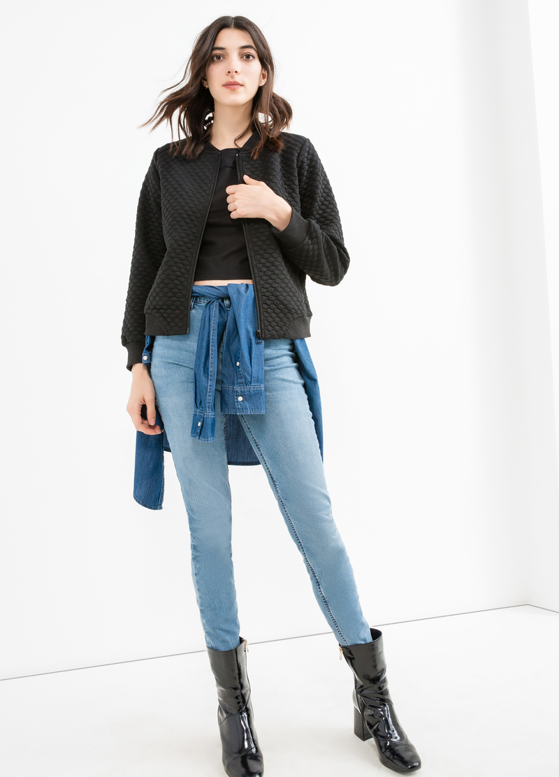High-waist, skinny fit stretch jeans image number null