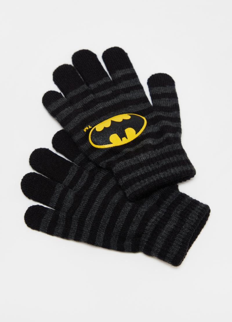 Warner Bros Batman striped gloves image number null