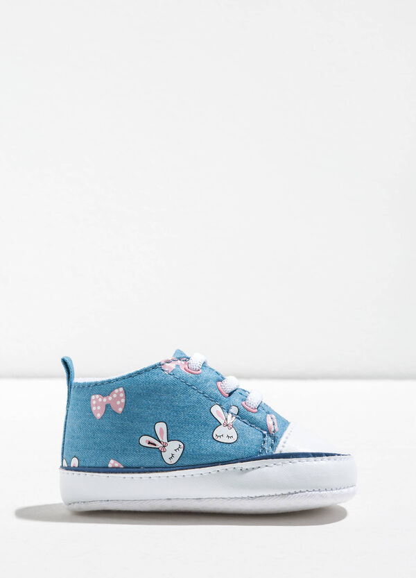 Sneakers with bows and rabbits pattern | OVS