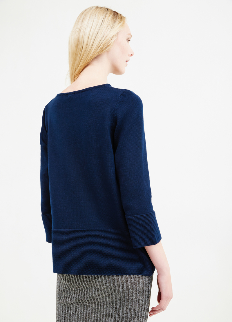 Ribbed pullover in 100% cotton image number null