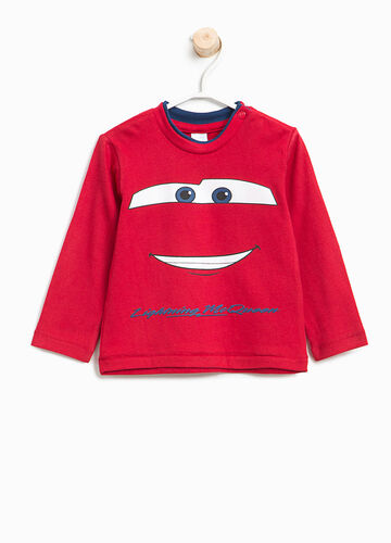 T-shirt in cotone con stampa Cars