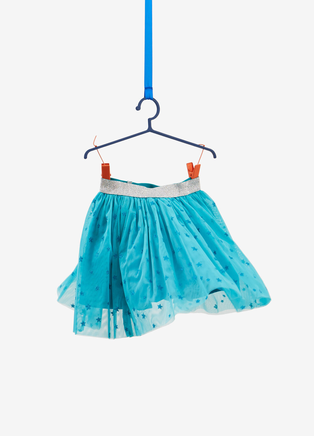 Tulle skirt with glitter stars