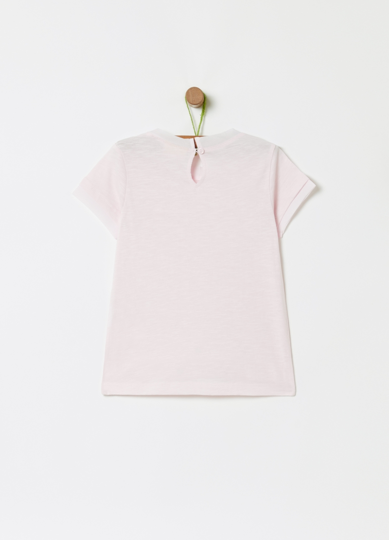 Sequinned T-shirt in 100% cotton image number null