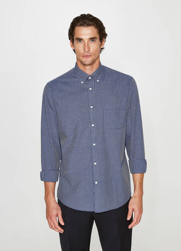 Regular-fit formal check shirt
