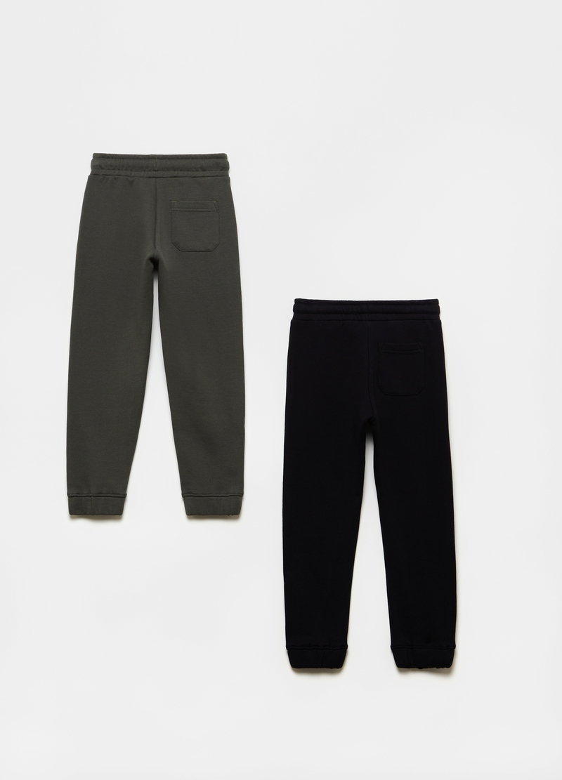 Bipack joggers French Terry puro cotone image number null