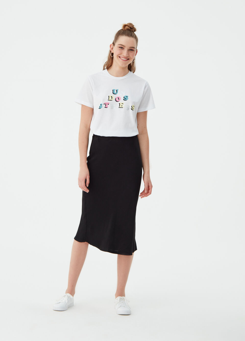 100% cotton basic T-shirt with print