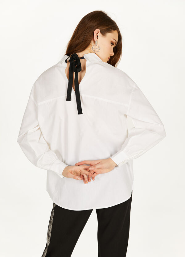 Shirt with lace-up back