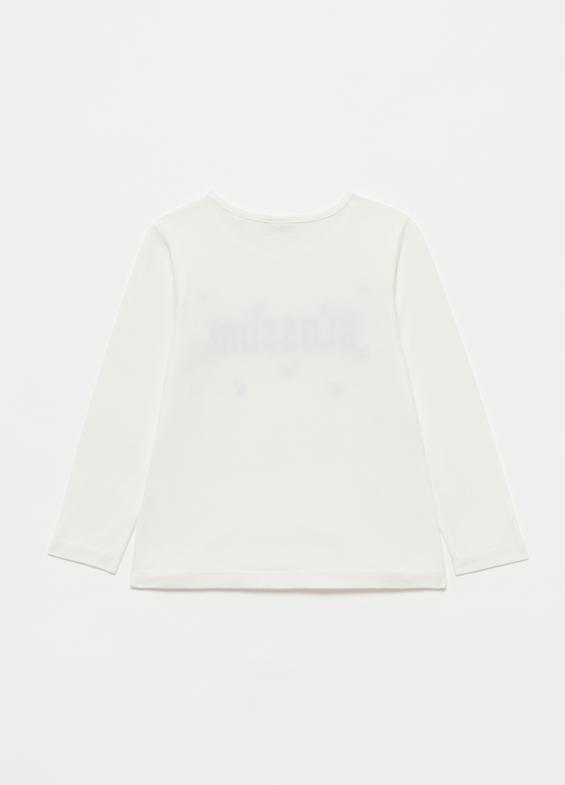 T-shirt a maniche lunghe stampa glitter image number null