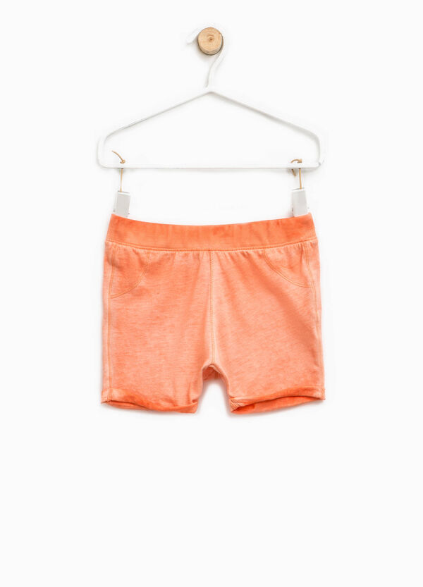Misdyed-effect shorts | OVS