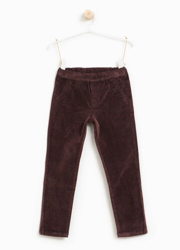 Pantaloni cotone e viscosa stretch