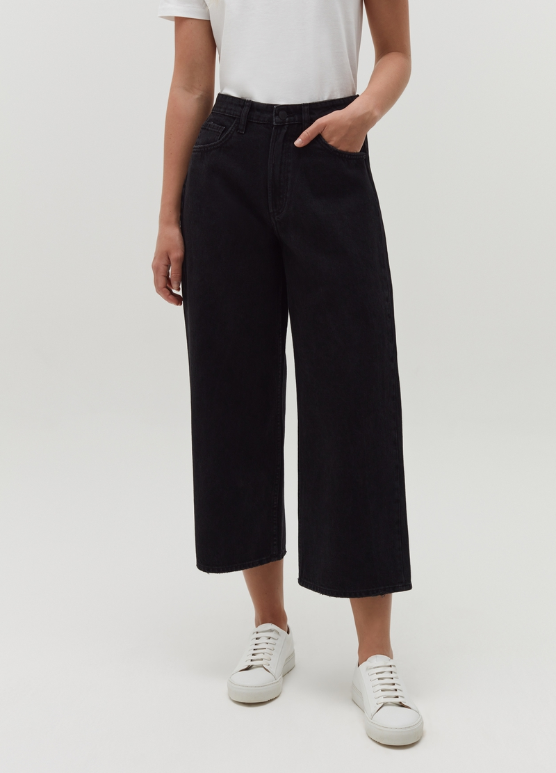 Jeans wide leg cinque tasche image number null