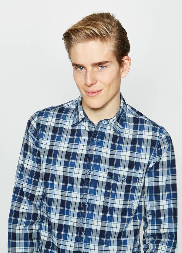G&H check cotton casual shirt | OVS