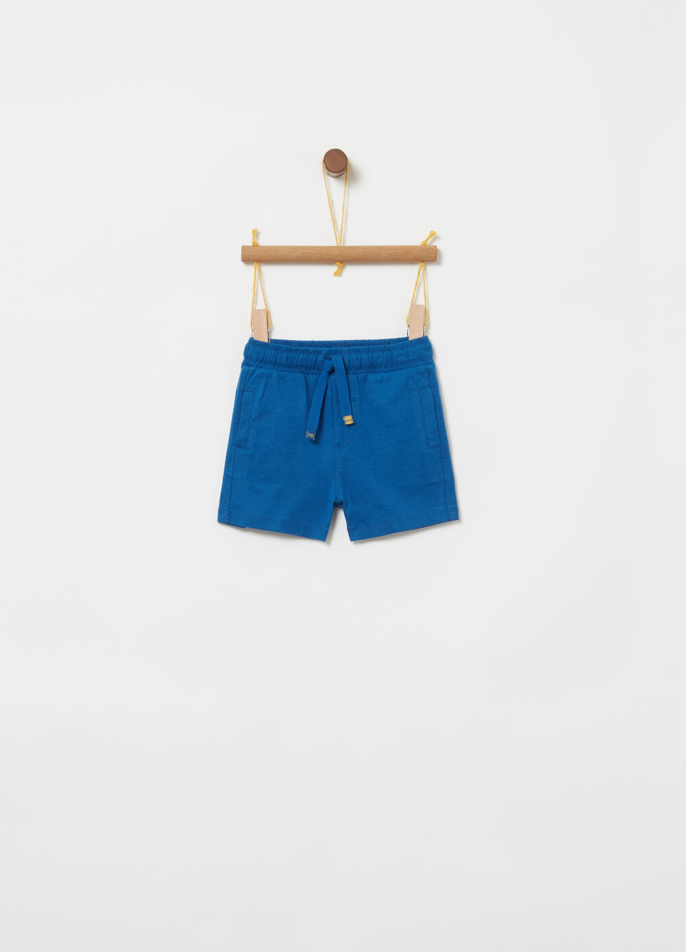 Shorts in jersey puro cotone con coulisse