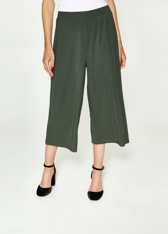 Gaucho model ribbed trousers
