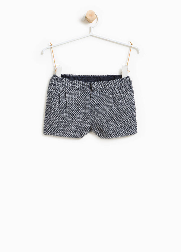Two-tone shorts with braided weave | OVS