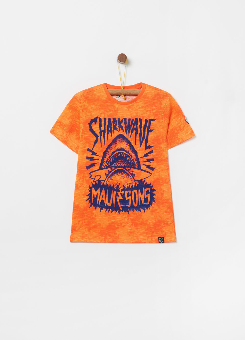 T-shirt with Maui and Sons shark print