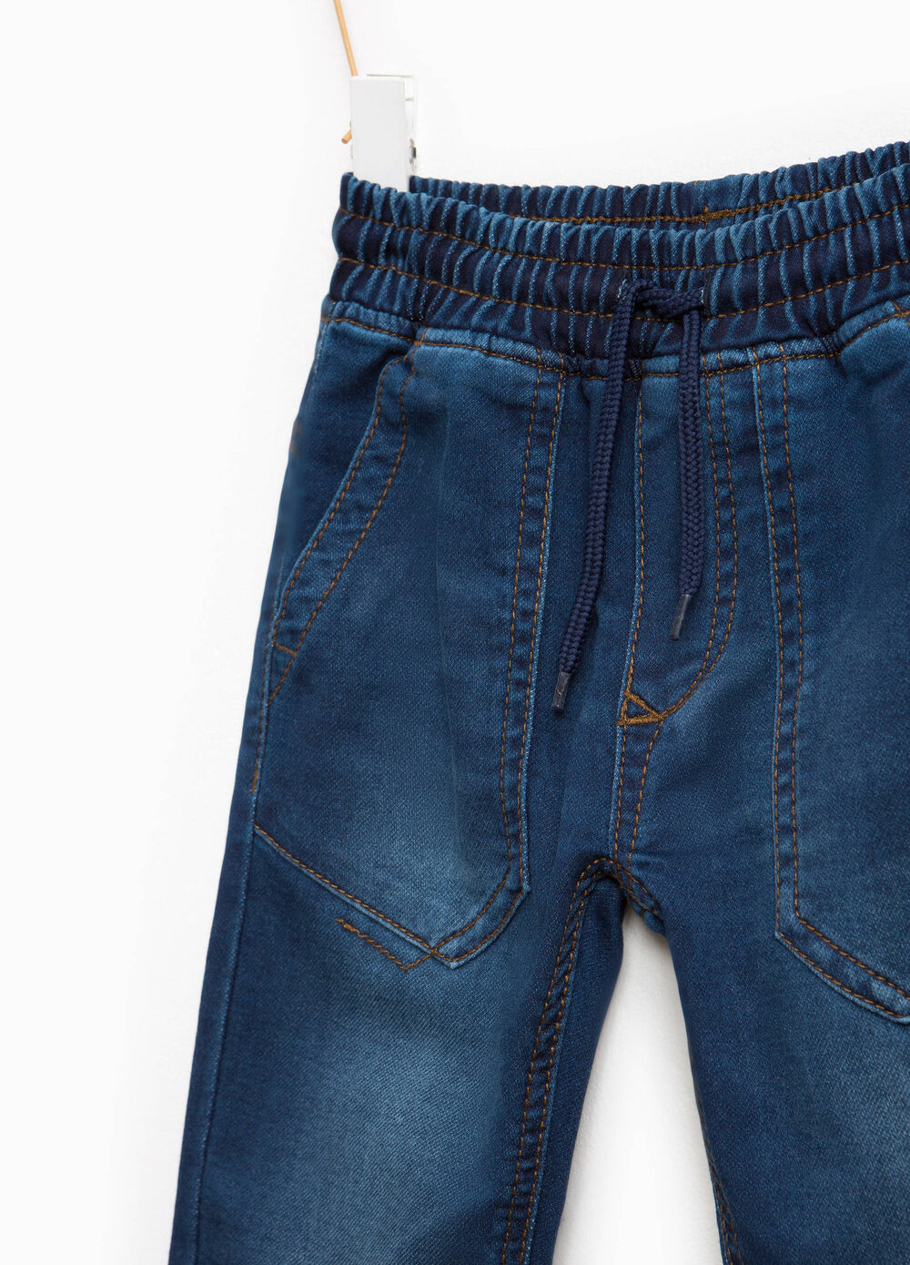 Jeans cuff hem con coulisse