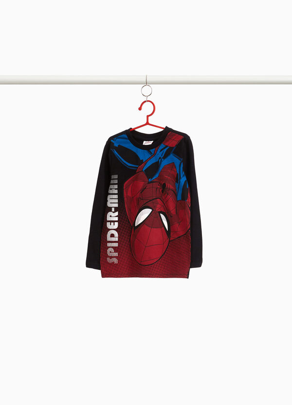 T-shirt puro cotone stampa Spiderman