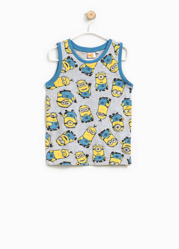 Minions patterned vest in cotton   OVS