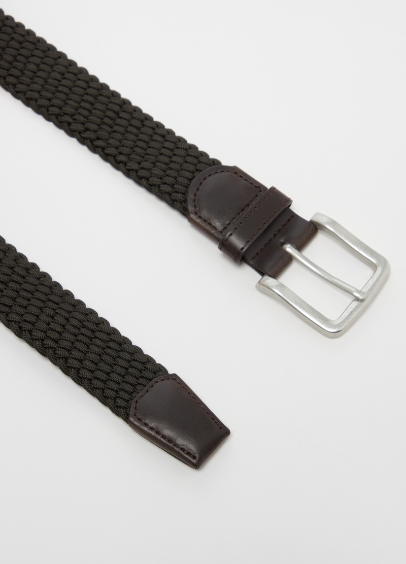 Solid colour braided belt image number null