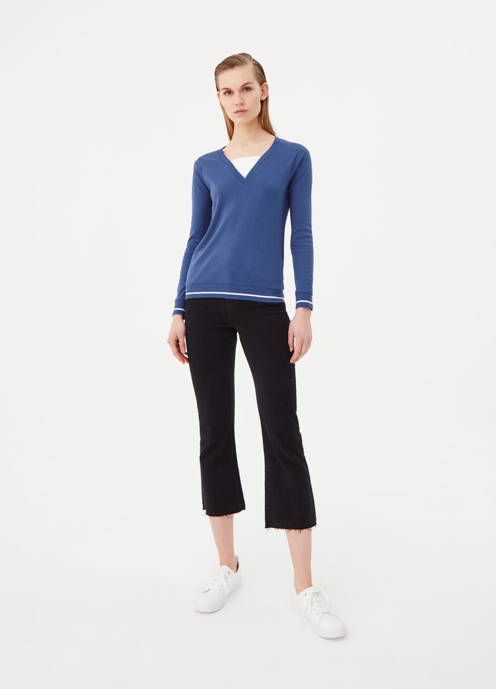 Long-sleeved T-shirt in BCI cotton