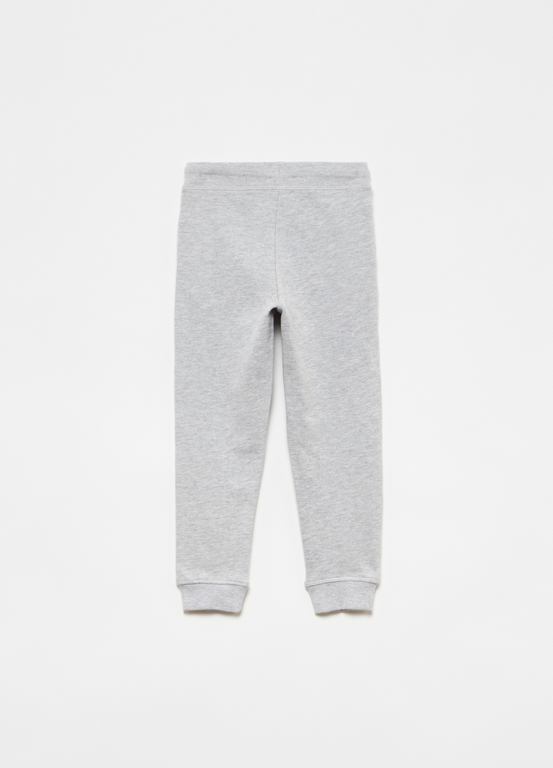 Joggers in felpa mélange con tasche image number null
