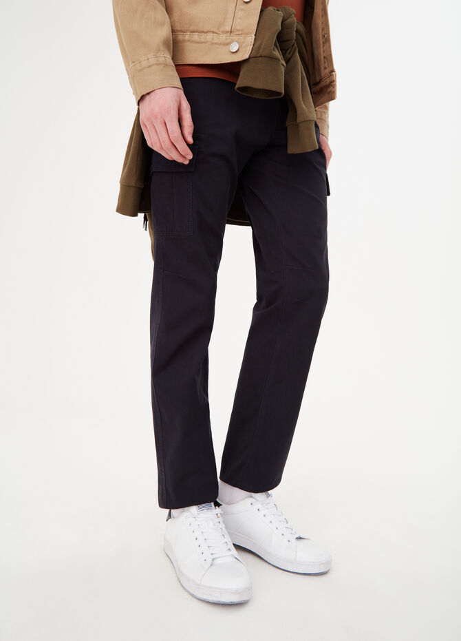 Pantaloni cargo regular fit in cotone