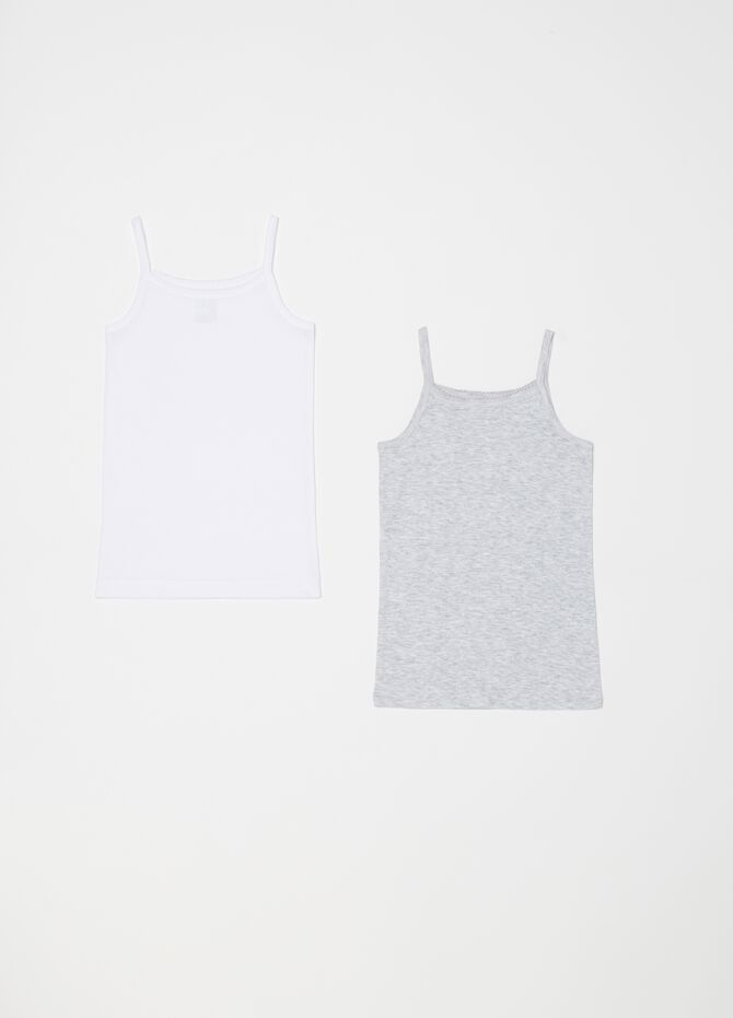 Two-pack biocotton under tops with spaghetti straps