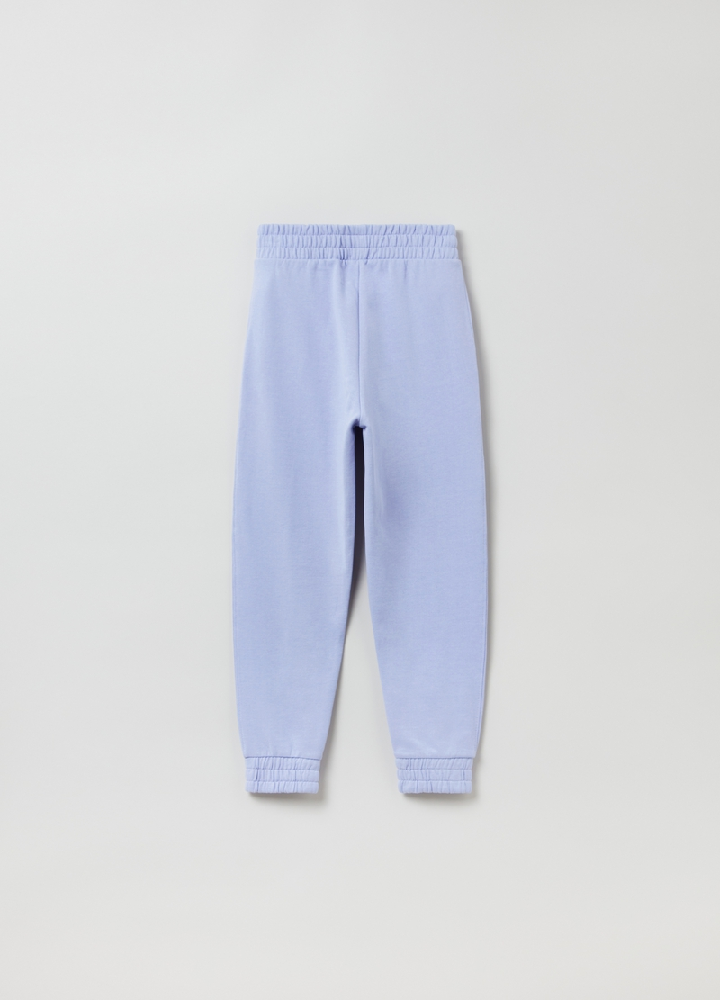 Joggers in cotone con punto smock image number null