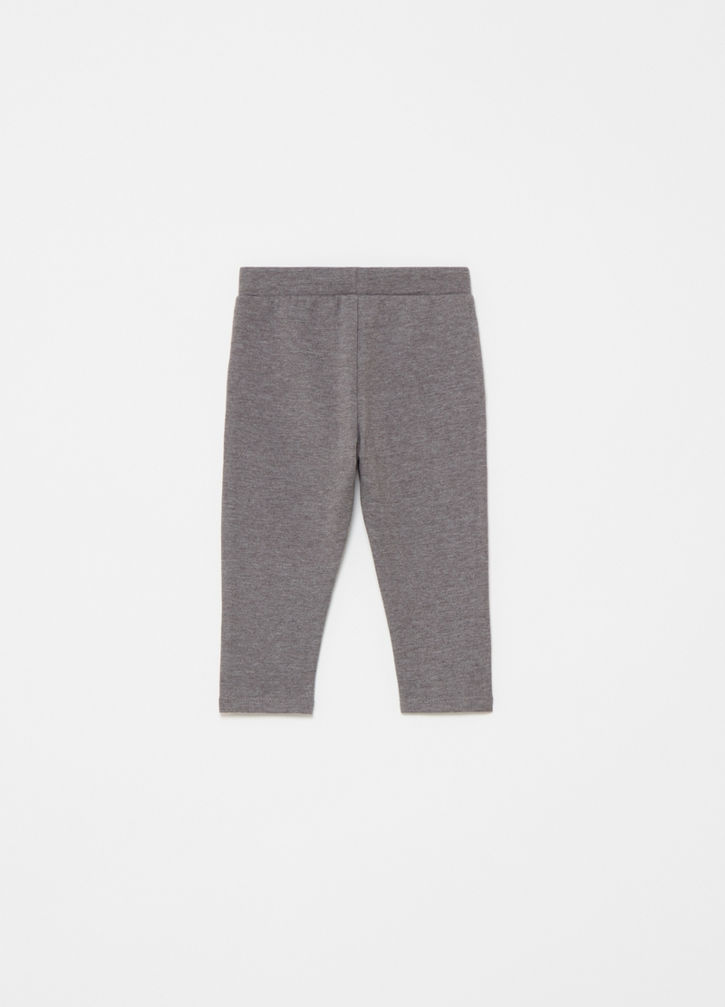 Joggers con bande laterali in lurex image number null