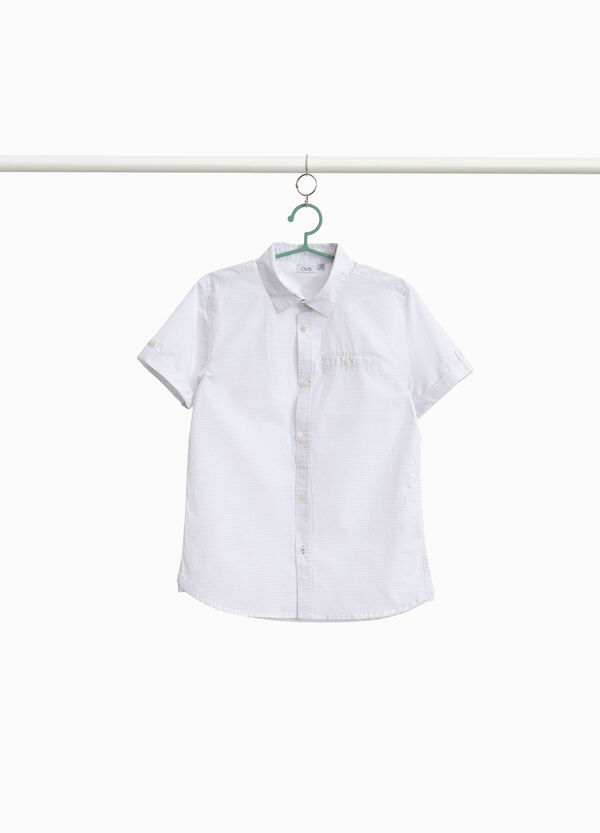 Striped shirt in 100% cotton