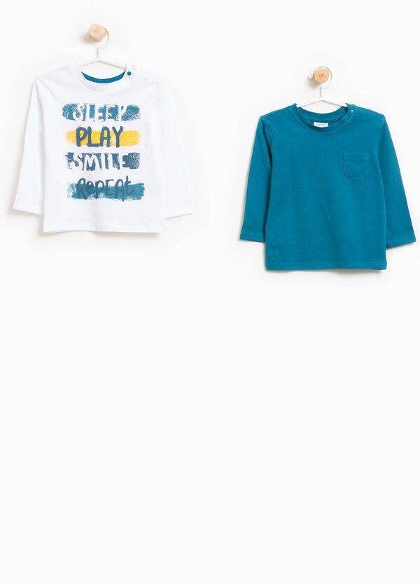 Set of two 100% cotton T-shirts | OVS