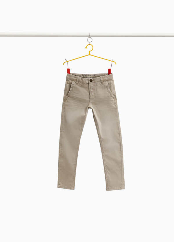 Pantaloni chino in cotone stretch