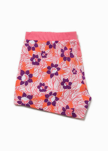 Shorts pigiama con stampa all-over