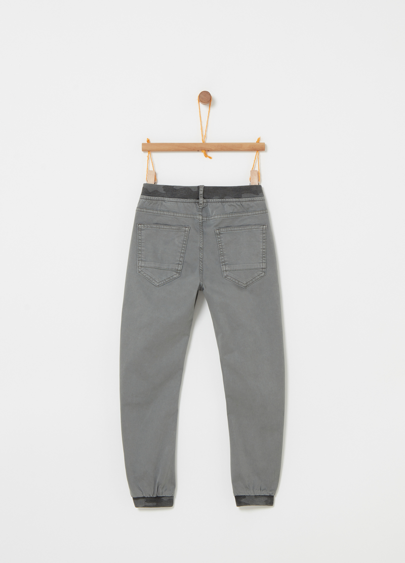 Joggers in twill con cinque tasche image number null