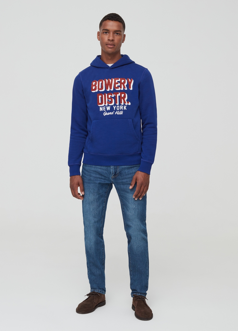 Hoodie with printed lettering image number null